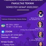 Pengumuman Yudisium Program Sarjana Fakultas Teknik Semester Genap T.A 2020/2021