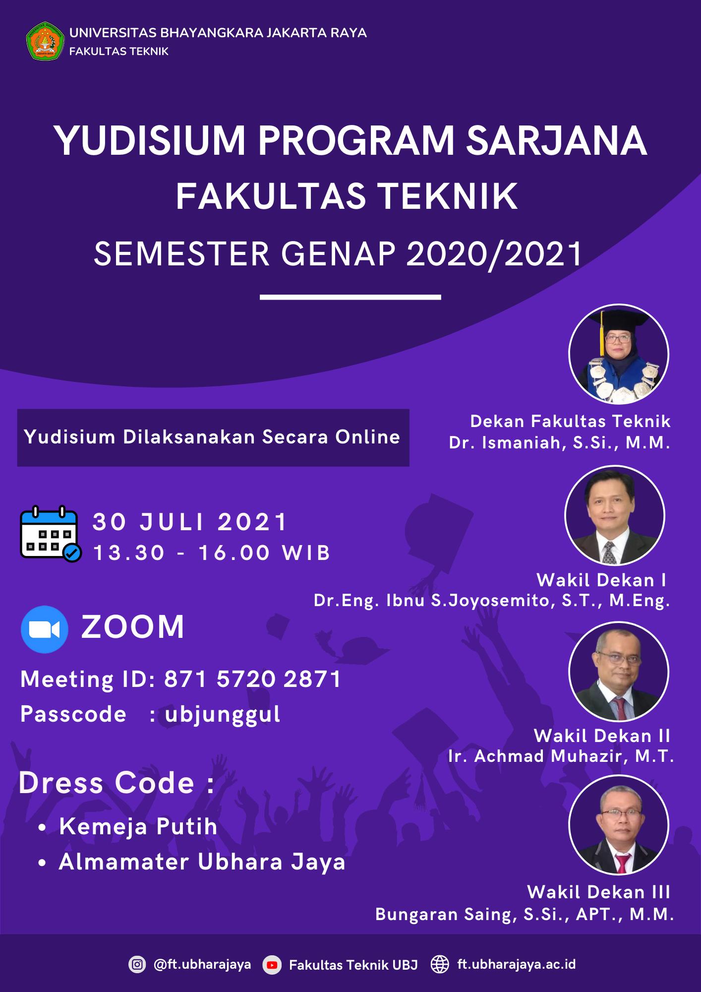 Flyer Yudisium FT Juli 2021
